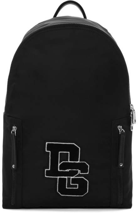 Dolce & Gabbana Black Logo Varsity Backpack