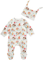 Cath Kidston Pets Party Baby Sleepsuit and Hat Gift Set