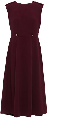 DKNY Button-embellished Stretch-crepe Midi Dress