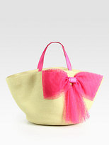 RED Valentino Eco Straw Beach Tote