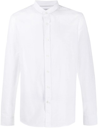 Brunello Cucinelli Mandarin Plain Shirt