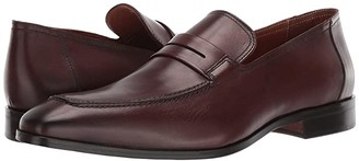 Massimo Matteo Drop Penny Loafer (Black 2) Men's Slip on Shoes