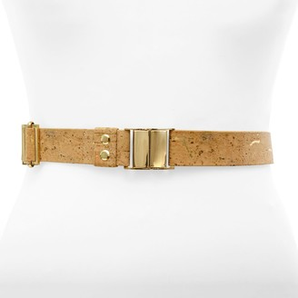 Sincerely Yours Beige Cork Leather Belt