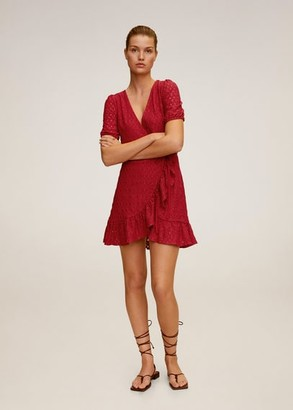 MANGO Laser-cut details dress cherry - 2 - Women
