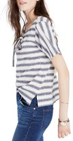 Madewell Women's Stripe Lace-Up Boxy Tee