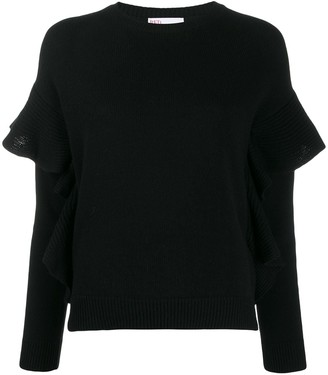 RED Valentino knitted ruffle-trimmed jumper