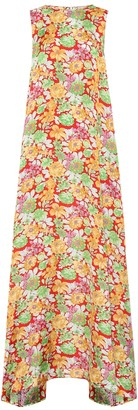 Plan C Sleeveless floral maxi dress