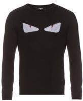 Fendi Bag Bugs-appliqué Wool Sweater