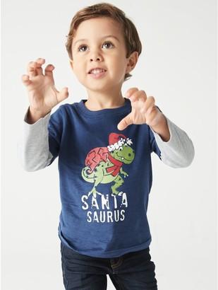 M&Co Santasaurus t-shirt (9mths-5yrs)