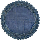 Mackenzie Childs Boheme Raffia Placemat, Sea Blue