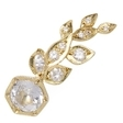 Ila Sybill Wing 14K Yellow Gold, White Sapphire & 0.17 Total Ct. Diamond Ear Climber, Right