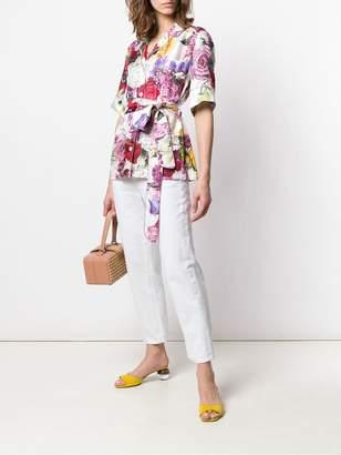 Dolce & Gabbana belted pyjama style blouse