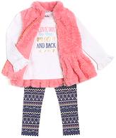 Little Lass Salmon Sweater Vest Set - Toddler & Girls
