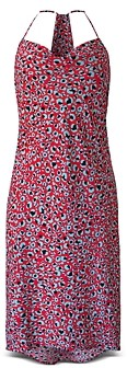 BCBGeneration Leopard Cowlneck Racerback Dress
