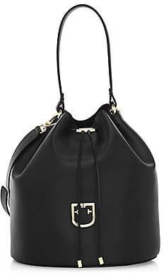 Furla Women's Medium Corona Drawstring Leather Bucket Bag