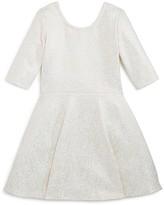 Bloomie's Girls' Flared Shimmer Dress - Sizes 2-6X