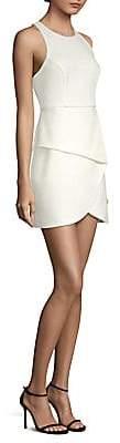 BCBGMAXAZRIA Women's Asymmetric Mini Dress