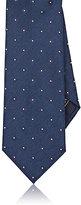 Brioni Men's Floral Jacquard Necktie-NAVY