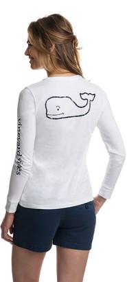 Vineyard Vines Long-Sleeve Whale Print Tee
