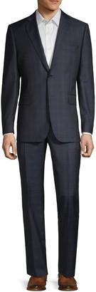 Saks Fifth Avenue Slim-Fit Plaid Wool Suit