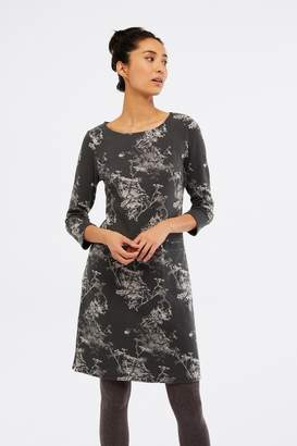 White Stuff Womens Willow Jacquard Dress - Grey