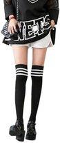 QIYUN.Z Cotton School Girls Uniforms Long Over-The-Knee Socks Stocking Chaussette Jambes
