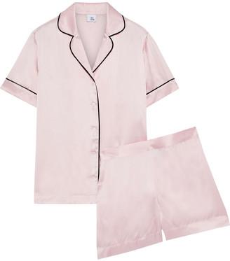 Iris & Ink Karitas Silk-blend Charmeuse Pajama Set