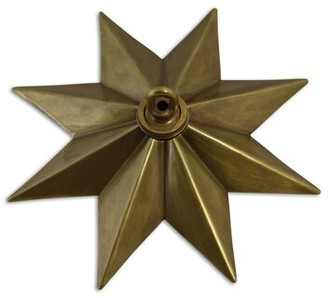 RCH Supply Company Star Shaped Ceiling Medallion Finish: Antique Brass