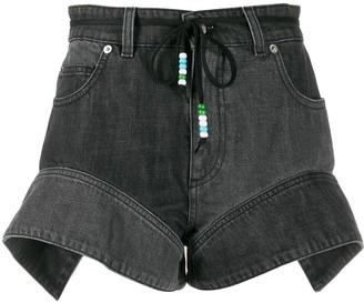 J.W.Anderson Flared Cuff Denim Shorts