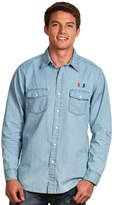 Antigua Men's Miami Hurricanes Chambray Button-Down Shirt