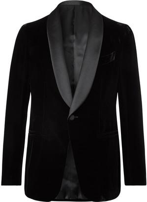 Caruso Satin-Trimmed Velvet Tuxedo Jacket
