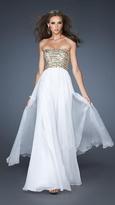 La Femme Beaded Strapless A-line Chiffon Evening Dress 18708