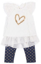 Little Lass 3-pc. Legging Set Girls