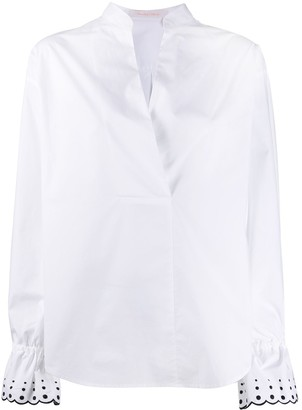 See by Chloe Flared-Cuff Blouse