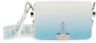 Off-White Mini Binder Clip Degrade Leather Crossbody Bag
