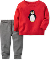 Carter's 2-Pc. Penguin Sweater & Striped Pants Set, Baby Boys (0-24 months)