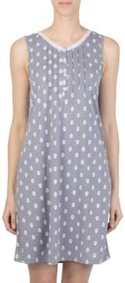 Claudel Sleeveless Printed Nightgown