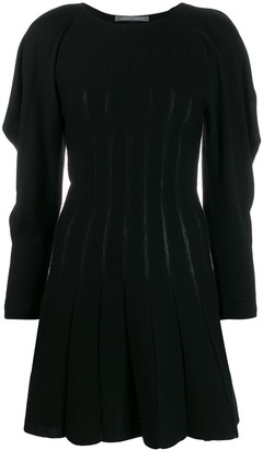 Alberta Ferretti ruffle sleeve knitted dress