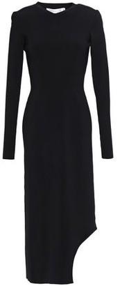 Victoria Beckham Asymmetric Stretch-knit Midi Dress