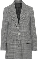 Alexander Wang Oversized Houndstooth Wool-blend Blazer - Black