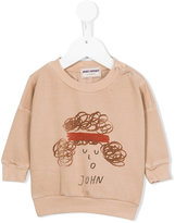 Bobo Choses John sweatshirt - kids - Organic Cotton/Polyester/Spandex/Elastane - 9-12 mth