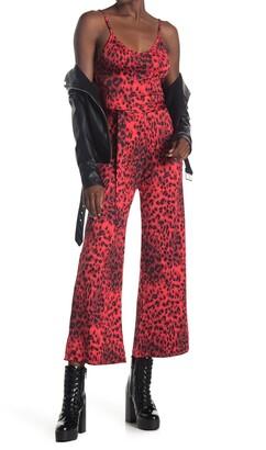 Velvet Torch Printed Belted Jumpsuit