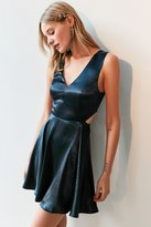 Silence & Noise Silence + Noise Satin Shine Cutout Dress