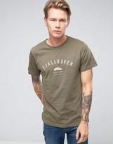 Fjallraven T-shirt With Trekking Equipment Print In Green