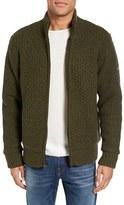 Schott NYC Men's Zip Front Faux Sherpa Lined Sweater Jacket