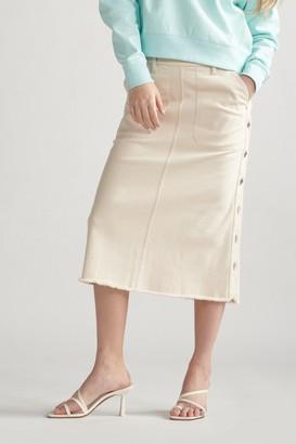 Thakoon Denim Midi Skirt Ecru