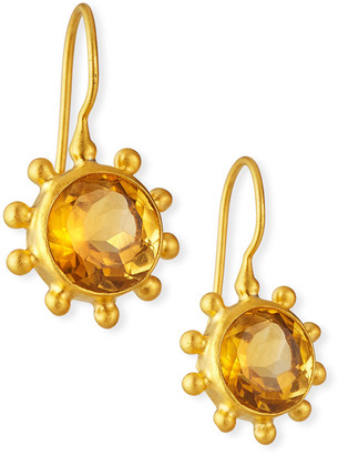 Dina Mackney Fine Citrine Pinwheel Earrings