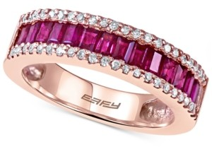 Effy Ruby (1 ct. t.w.) and Diamond (1/5 ct. t.w.) Ring in 14k Rose Gold