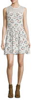 Sandro Floral Printed Flare Dress