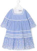 Ermanno Scervino embroidered striped dress
